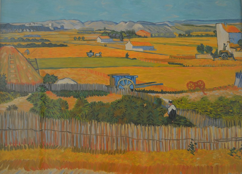 Il raccolto nella piana della Crau