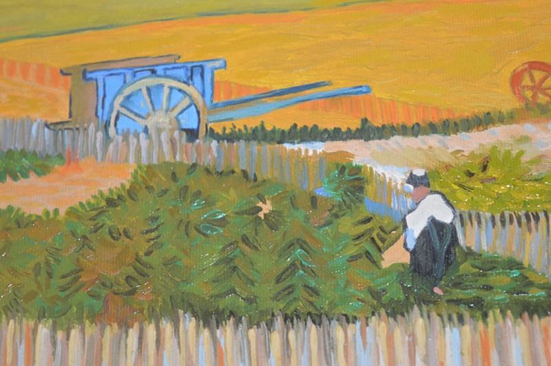 Il raccolto nella piana della Crau (dettaglio)